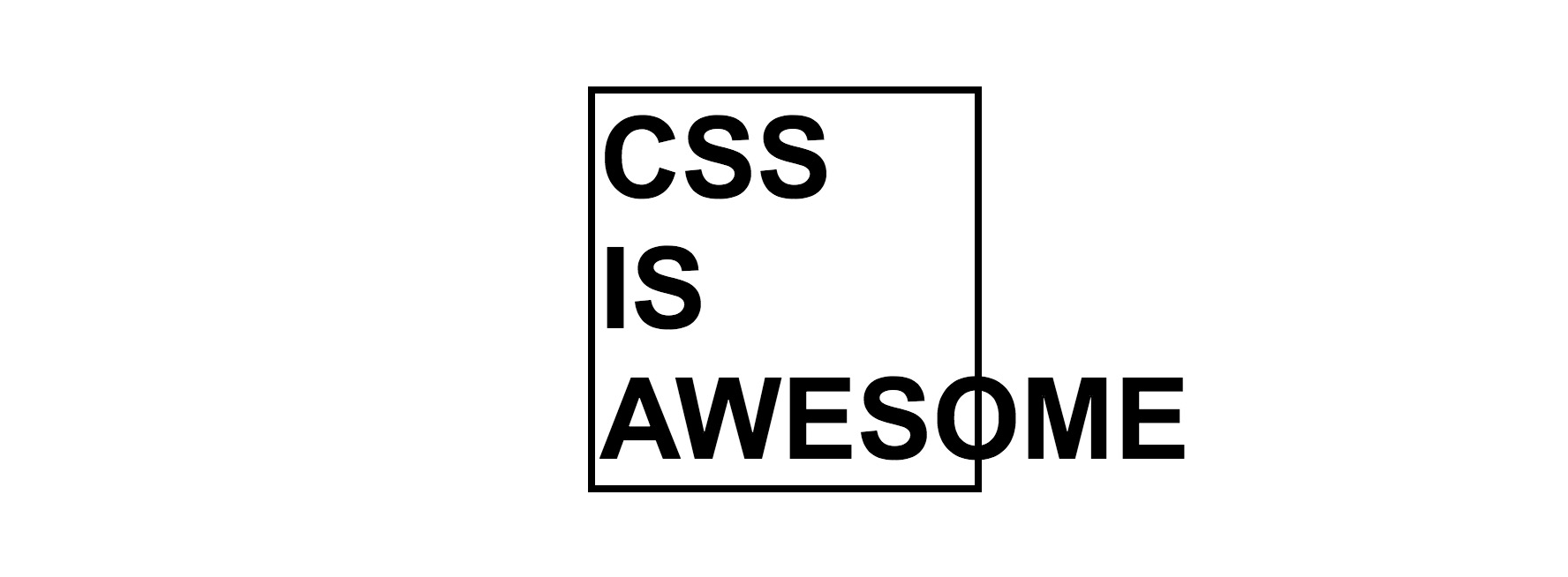 CSS is Awesome (overflow meme)